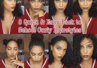 Elegant hairstyles for curly hair in school curly hairstyles Cute Hairstyles For Short Curly Hair For School Inspirations